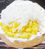 Sahniger Kuchen des thailändischen Eies des Nachtischs süßen Stockfotografie