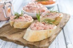 Sahniger Salmon Salad Stockbilder