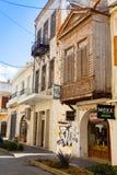 Sahnisi balcony in Rethymno Royalty Free Stock Photography