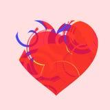Sahpe abstrait de coeur Image libre de droits