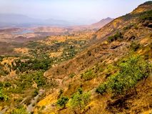 Sahyadri-Berge bei Matheran Lizenzfreie Stockbilder