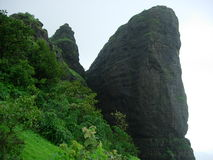 Sahyadri Mountain. Cliff in Popular Indian Mountain Stock Image