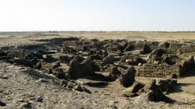 Sai海岛的,尼罗河,苏丹被破坏的堡垒 免版税库存照片