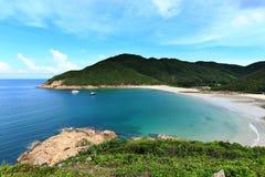Sai苍白海滩在香港 库存照片