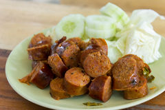 Sai Aua is name of Thai spicy sausage Stock Images