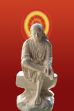 Sai baba. Statue of saint sai baba indian monk Royalty Free Stock Photography