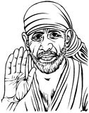 Sai Baba. A  image of Guru Sai Baba Stock Images
