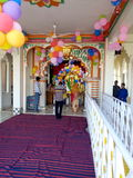 Sai baba temple. Sai baba  mandir in guna india decorated temple with balloons Royalty Free Stock Photos