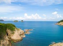 Sai fahle Insel Stockbild