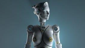 Sai fi robots 3d render. Technology robot sai fi robots 3d render