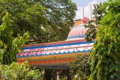 Sai Gita, Puttaparthi,安得拉邦,印度大象的大厦  特写镜头 免版税库存图片