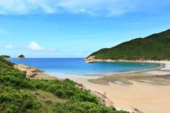 Sai glåmig strand i Hong Kong arkivfoto