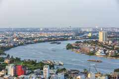 Sai Gon river in Ho Chi Minh city Stock Image