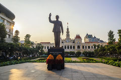 SAI GON, VIETNAM - APRIL 14 , 2016: The historic Peoples' Committee Building in Ho Chi Minh Square Stock Images