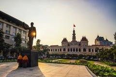 SAI GON WIETNAM, KWIECIEŃ, - 14, 2016: Historycznych Peoples Komitetowy budynek w Ho Chi Minh kwadracie Fotografia Royalty Free