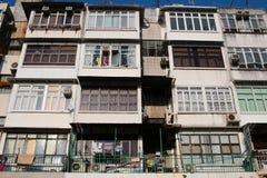 sai kung的香港老牌房子 库存图片