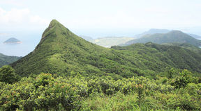 Sai Kung高破烂物峰顶在香港 库存照片