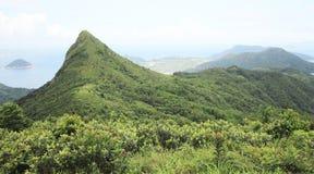 Sai Kung dżonki Wysoki szczyt w Hong kong Zdjęcia Stock