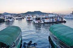 Sai Kung i de nya territorierna av Hong Kong Arkivfoton