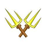 Sai ninja weapon icon, cartoon style Royalty Free Stock Photography
