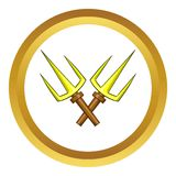 Sai ninja weapon vector icon, cartoon style Royalty Free Stock Photography