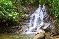 Sai ringde vattenfallet i Thailand Fotografering för Bildbyråer