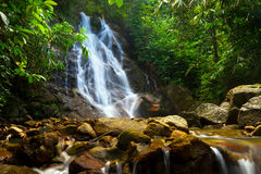 Sai Rung waterfall in the jungle of Thailand Royalty Free Stock Photo