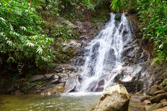 Sai Rung waterfall in Thailand Stock Image