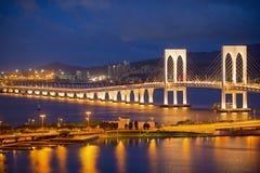 Sai Van мост в Макао Стоковое Изображение RF