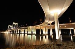 Sai Van мост в Macau стоковая фотография