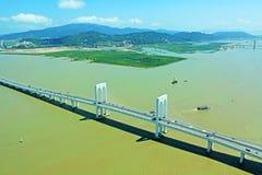 Sai Van Мост, Макао, Китай Стоковые Изображения RF