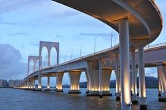Sai Van bridge. In Macao Royalty Free Stock Photo