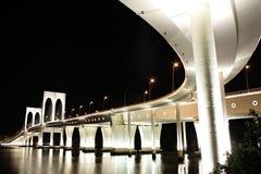 Sai Van bridge in Macao. At night Stock Images
