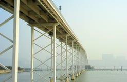 Sai Van bridge. In Macao. This is the world's largest double concrete bridge span Stock Image