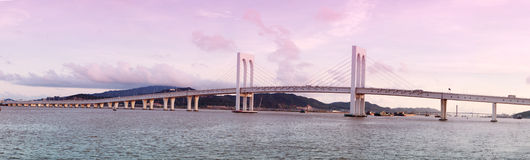 Sai Van bridge a Macau Fotografie Stock
