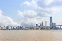 Sai Van Bridge, Macau royalty free stock photography