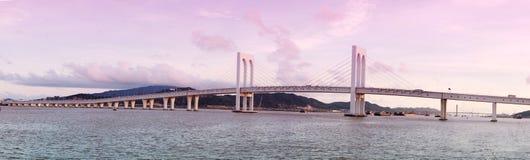 Sai van bridge in Macau. MACAU, CHINA - MAY 25 2014:  Sai Van Bridge is a cable-stayed bridge in Macau inaugurated on December 19, 2004. The bridge measures 2.2 Stock Photos