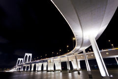 Sai Van Bridge in Macau at night Stock Images