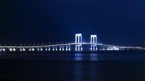 Sai Van Bridge at Night. Stock Image