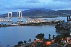 Sai Van most w Macau zdjęcie stock