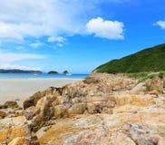 Sai Wan beach. In Hong Kong stock photo
