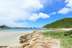 Sai Wan beach in Hong Kong Stock Image