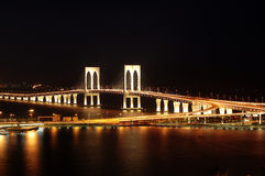 Sai Wan bridge, Macau royalty free stock photos