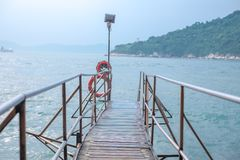 Sai Wan Swimming Shed in Hong Kong immagine stock