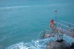 Sai Wan Swimming Shed in Hong Kong fotografie stock libere da diritti
