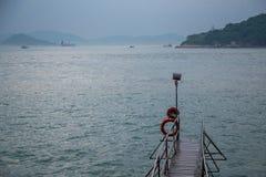 Sai Wan Swimming Shed in Hong Kong fotografia stock libera da diritti