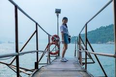 Sai Wan Swimming Shed in Hong Kong immagini stock
