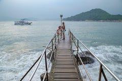 Sai Wan Swimming Shed in Hong Kong fotografie stock