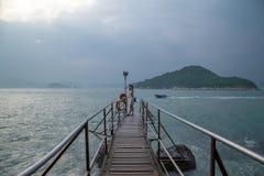 Sai Wan Swimming Shed in Hong Kong fotografia stock
