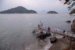 Sai Wan Swimming Shed in Hong Kong immagine stock libera da diritti